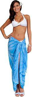 1 World Sarongs Womens Smoked Swimsuit Cover-Up Sarong in Your Choice of Color