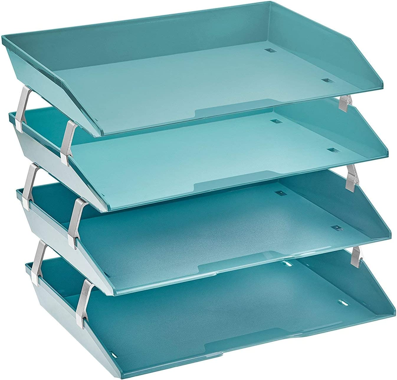 Acrimet Facility 4 Tier Limited time for free shipping Letter Tray Fi Plastic Desktop Load Fashion Side