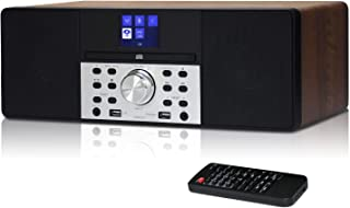 LEMEGA MSY1 20W Stereo Speaker with FM Digital Radio, CD Player, Bluetooth, USB, Aux, Clock, Alarm & TFT Display - Walnut