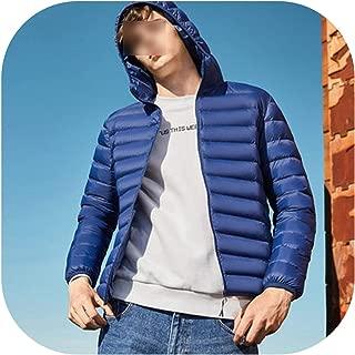 Men Down Jacket Casual Winter Jacket for Hooded Windbreaker White Duck Coat Outwear