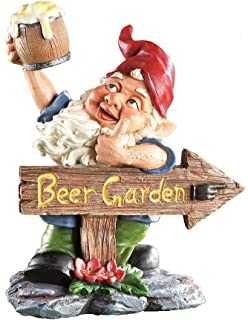 Beer Garden Gnome Lawn Ornament., Hand Painted Resin. 10