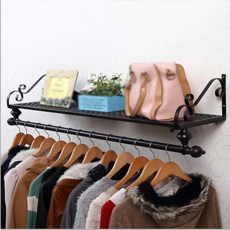 Qing MEI Creative Wrought Iron Coat Rack Garden Hanger Wall Hanging Simple Wall Hanger Wall Rack A++ (Size   60X28cm)