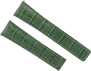 22MM LEATHER BAND STRAP FOR TAG HEUER CARRERA MONACO CALIBRE 12 + CLASP GREEN