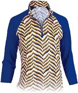 Monterey Club Ladies Dry Swing Zebron Long Sleeve Shirt #2679