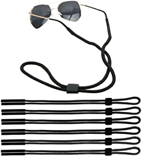 KISEER 6 Pack Adjustable Sunglass Straps Sport Eyewear Retainer Unisex Eyeglass Holder Straps Chains, Black