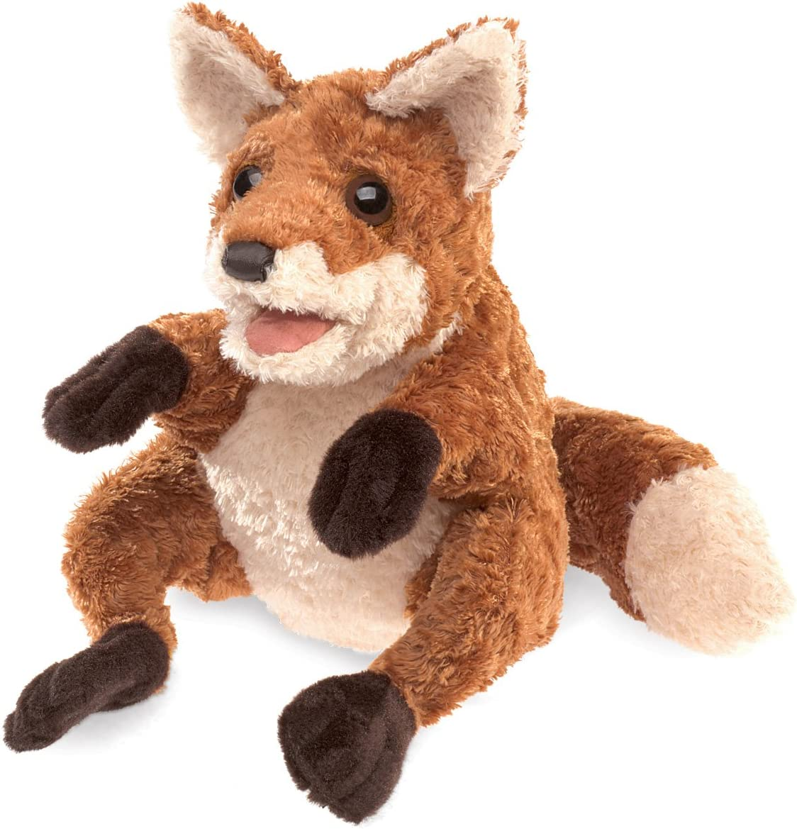 Folkmanis Crafty Fox Hand Puppet, Red-Brown/Light Tan