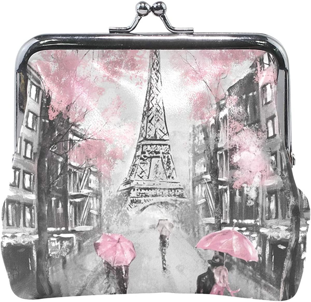 Challenge the lowest price Oil Painting New Free Shipping Paris Eiffel Tower Lover Clasp Purse Leather P Coin