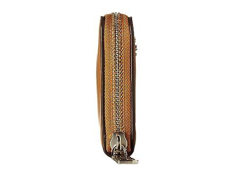 Saddle Cuero SV Zip acordeón pequeño liso Light COACH qgaxPw0d0