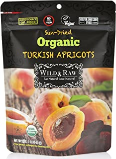 Organic Sun Dried Turkish Apricots - 5oz (Pack of 6) - Kosher and Non-GMO