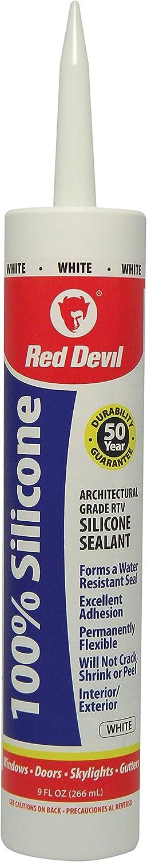 Red Max 89% OFF Devil 0816 100% White Silicone Indianapolis Mall Sealant
