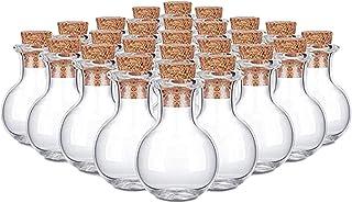 Dreamseeker 10pcs Mini Clear Glass Bottle Floating Bottle Small Wishing Bottle with Cork Stopper for Wedding Birthday Part...