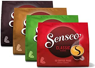 SENSEO Coffee Pods Variety Pack#1, 64 Pods, 16 Count Pods (Pack of 4) for Senseo Coffee Makers, Hot Coffee, Cold Brew Coff...