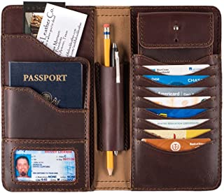 Large Full Grain Leather Big Bifold ID Credit Card Wallet Organizer Includes 100 Year Warranty