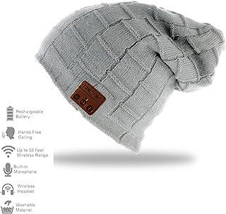 Bluetooth Hat,CFZC Wireless Bluetooth Beanie Hat 5.0 Women Men Winter Knitted Hat Trendy Cap with Speaker & Noise Cancelli...
