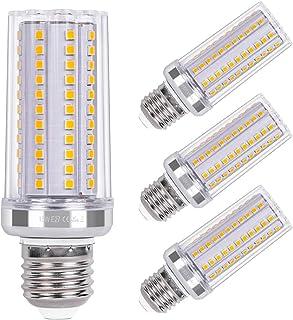 SanGlory Bombilla LED E27 15W, Equivalente A Lámpara Halógena 120W, Blanco Cálido 3000K,1720lm Edison E27 maíz bombilla, N...