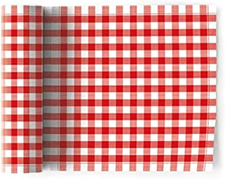 MY Drap Formal Designer Collection Luncheon Napkins (24 Napkins, Picnic Gingham Red)