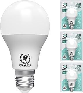Espartan - Bombillas LED E27 Luz Cálida Bola 15W, 3000K, 1340 lúmenes, Bombilla LED E27 Luz Cálida, Equivalente a 120W Bom...