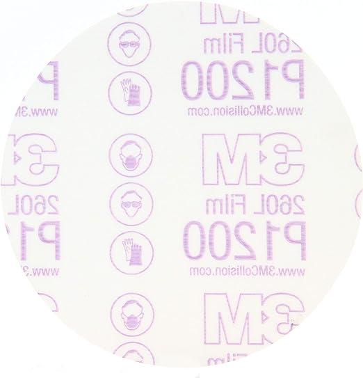 83679 100 Pack 3M Stikit White Film Disc 260L 5 in x NH Die# 500X P800