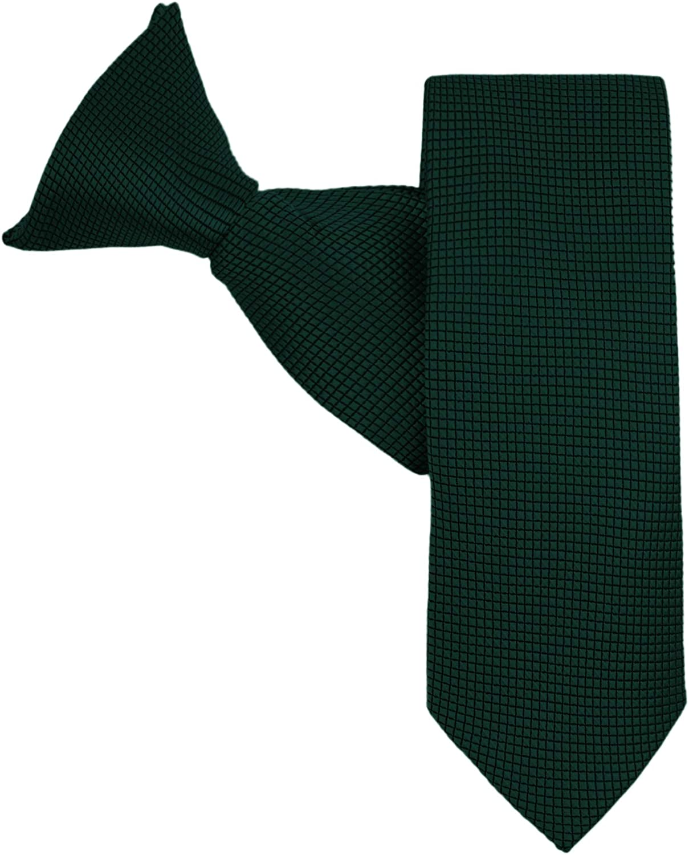 Jacob Alexander Boys' Woven Subtle Mini Squares 14-inch Clip-On Neck Tie