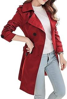 NANJUN Women's Double Breasted Trench Coat Chelsea Tailoring Overcoat