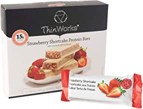 ThinWorks Strawberry Shortcake Low-Carb Protein Bars, Thin Works Low-Calorie Snacks for Weight Loss and Healthy Meals