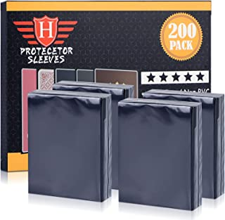 200 Counts Trading Card Sleeves Protectors , Top Loaders Penny Sleeves Fit for Pokemon, MTG and Yugioh Card Protection and...