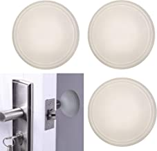 Bundaloo Wall Protector for Door Handle, 3 Pack Self Adhesive White Silicone Rubber Door Stopper and Protector - Furniture Bumpers for Bedroom, Kitchen, Bathroom, Home, Apartment
