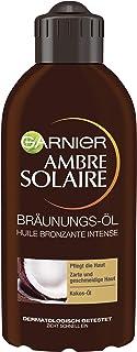 Garnier Ambre Solaire bruiningolie, bruiningsmiddel met kokosolie, bruiningsversneller, zonneolie in goud, 200 ml
