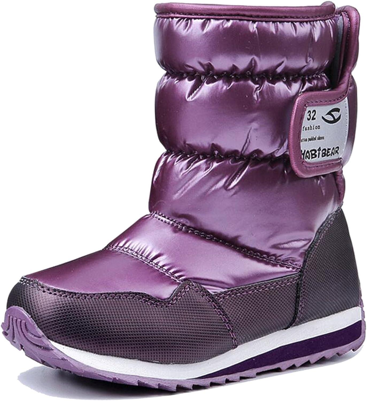 Toddler//Little Kid//Bid Kid Otamise Girls Boys Winter Snow Boots Warm Fur Outdoor Waterproof Boot