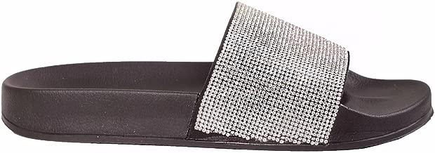 Womens Sparkle Diamante Flip Flop Rubber Shoe Sliders Ladies Slip On Slippers UK