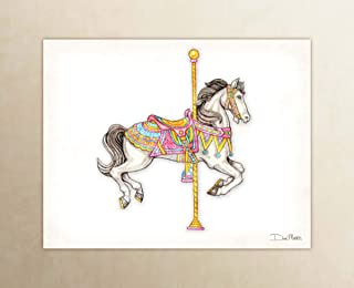 carousel horse watercolor