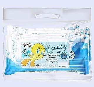Tweety Extra Gentle Premium Wet Wipes,12 Sheets(96 Wipes), Pack of 8