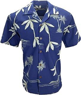 492884360 Tropical Luau Beach Bamboo Print Men's Hawaiian Aloha Shirt