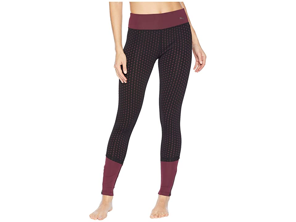 PUMA Luxe Mesh Tights (Fig/Puma Black) Women