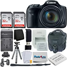 Canon PowerShot SX540 HS Digital Camera – Wi-Fi + 64GB Memory Card + Camera Bag + Flexible Tripod + Replacement Battery and Travel Charger + USB Card Reader + Screen Protectors + Cleaning Cloth + More