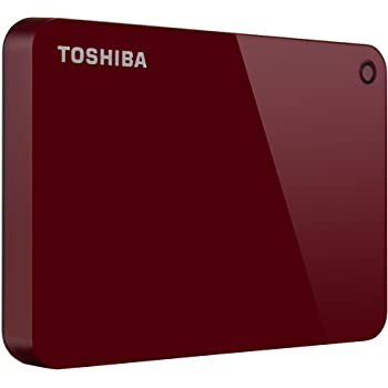 Toshiba (HDTC910XR3AA) Canvio Advance 1TB Portable External Hard Drive USB 3.0, Red