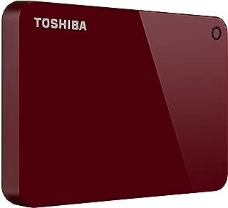 Toshiba Canvio Advance 1TB Portable External Hard Drive USB 3.0, Red (HDTC910XR3AA)