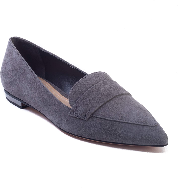 Schutz Kvinnlig Kvinnlig Kvinnlig Elise mocka Flat skor grå  för din spelstil till de billigaste priserna