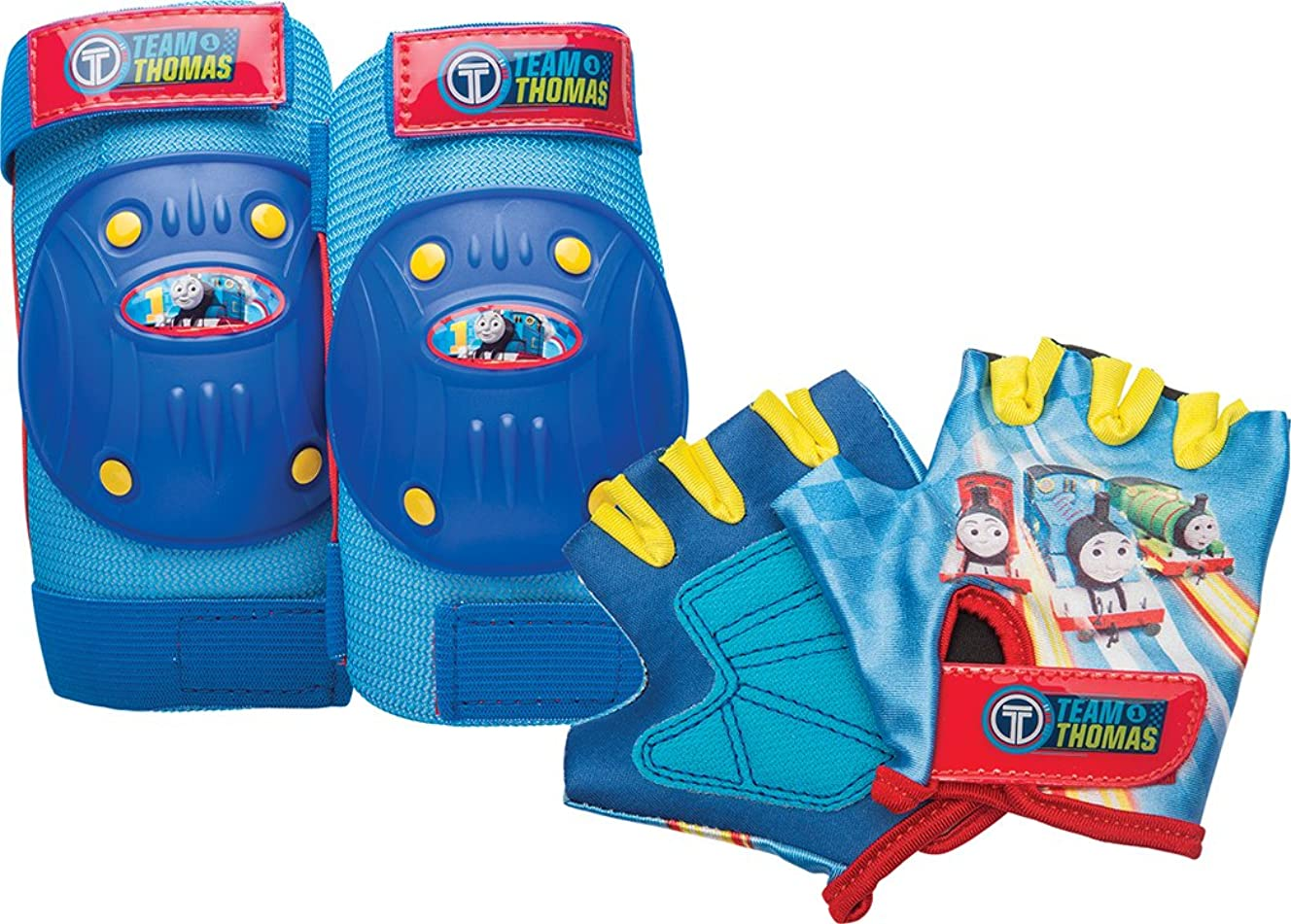 Nickelodeon Bell Thomas and Friends Protective Gear Pad & Glove Set, Blue