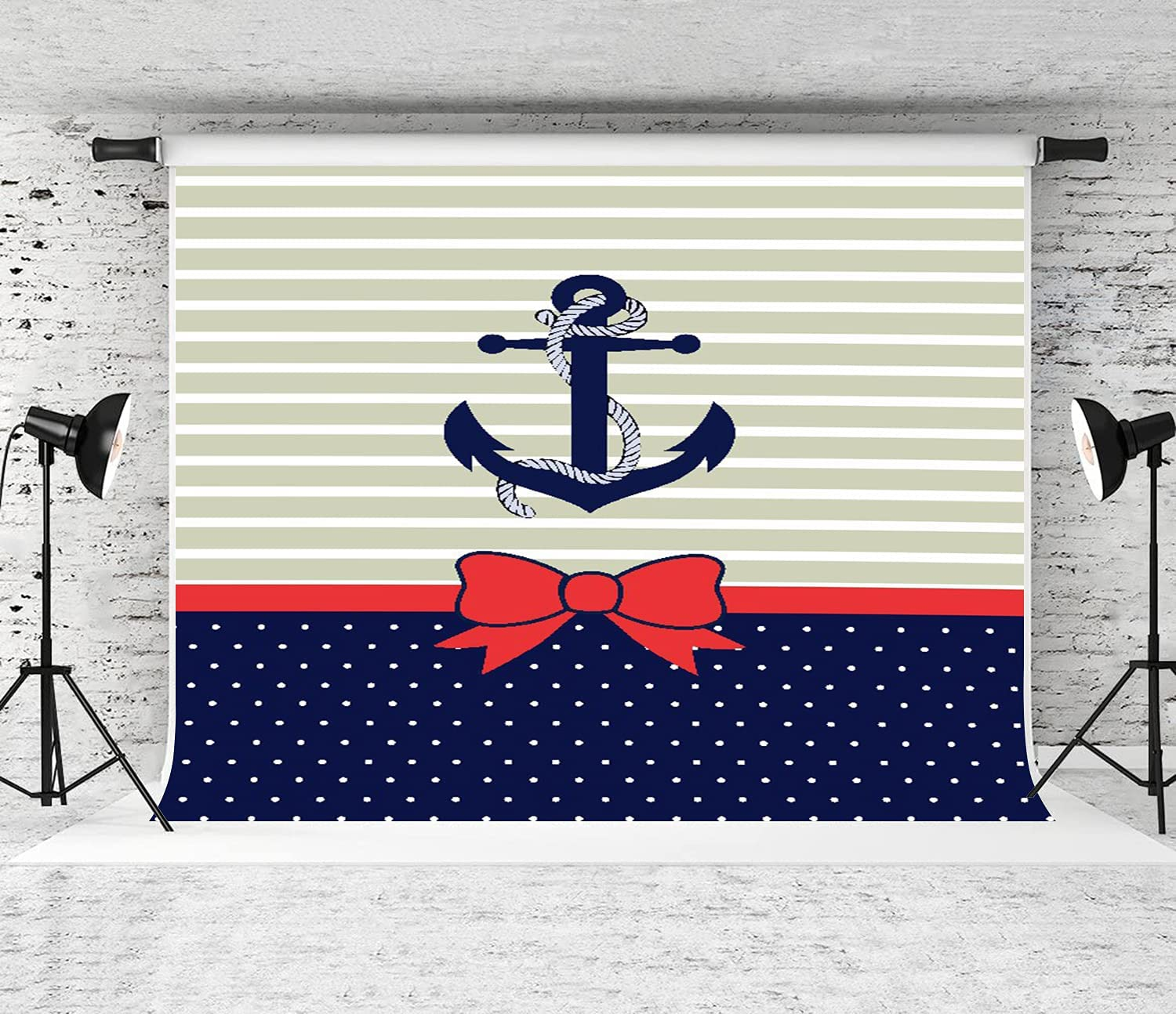 ZOANEN Photography Background Anchor Bowknot Stripe Party dots Year-end annual account Seasonal Wrap Introduction D