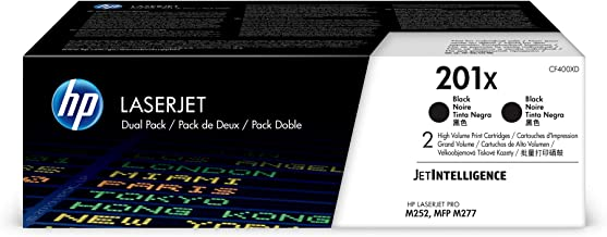 HP 201X | CF400XD | 2 Toner Cartridges | Black | High Yield