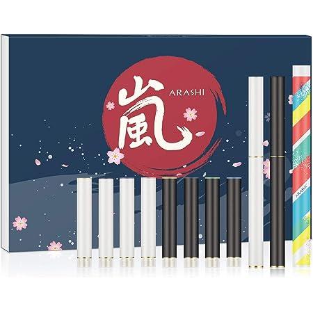 ARASHI 電子タバコ スターターキット 10種風味 カートリッジ 大容量 約300口/個 15点ギフトセット [510 Lite/FLEVO互換]