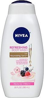 NIVEA Refreshing Wild Berries and Hibiscus - with Nourishing Serum - 20 fl. oz. Bottle