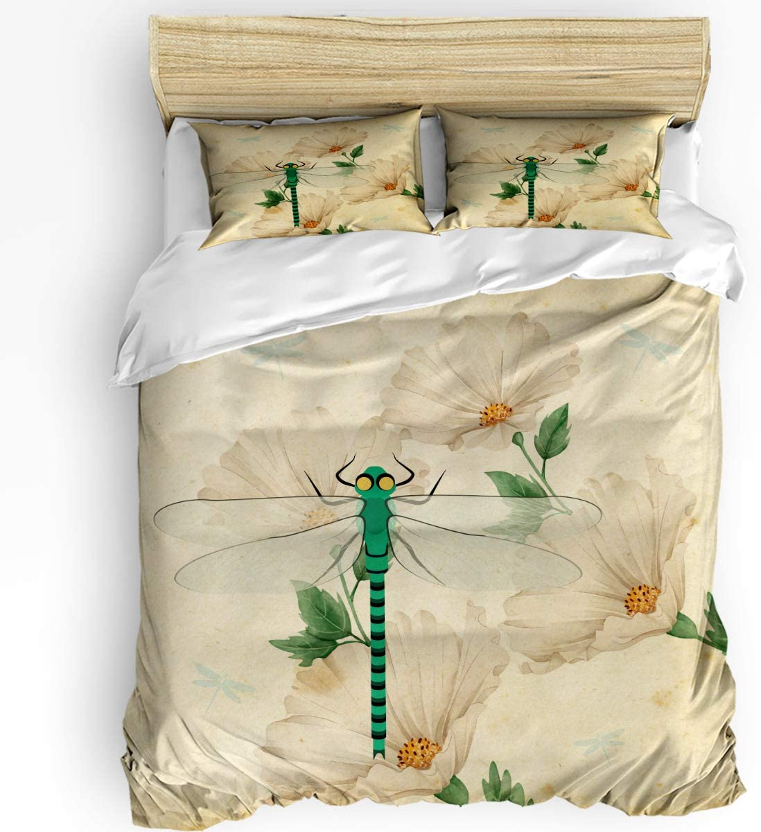 HELLOWINK Duvet Cover Milwaukee Mall 3 Piece In stock Bedding Vintage Set Dra King Size