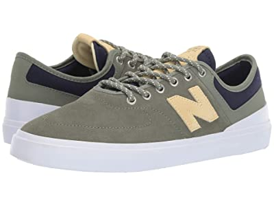 New Balance Numeric 379 (Olive/Yellow Suede) Skate Shoes