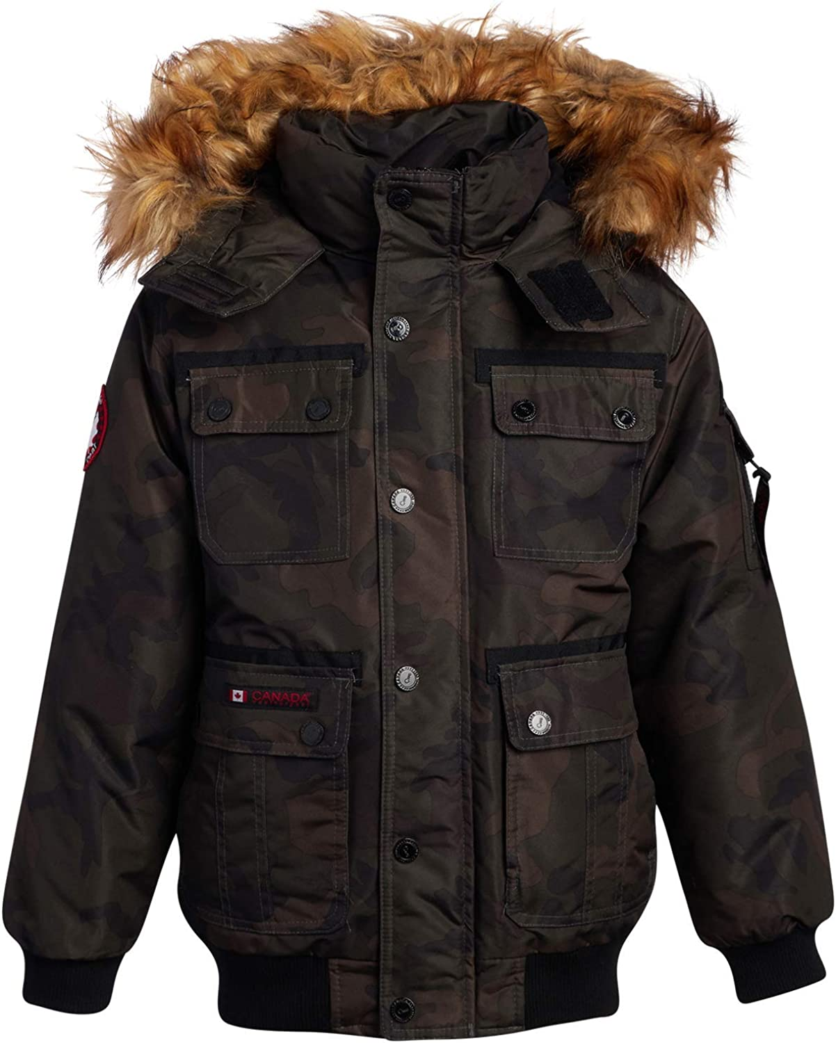 CANADA WEATHER GEAR Boys Complete Free Shipping Heavyweight Fa Popular brand in the world with Parka Jacket Bomber