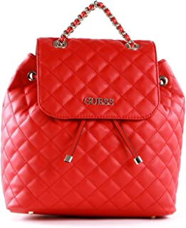 Guess Borsa zaino Illy backpack ecopelle trapuntato rosso BS21GU41 VG797032
