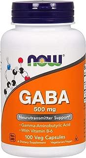 Now Foods, GABA ガンマアミノ酪酸、500 mg、植物性カプセル 100粒 [並行輸入品]