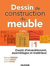 Livres Dessin de construction du meuble - Tome 1: Dessin d'ameublement, assemblages et matériaux PDF