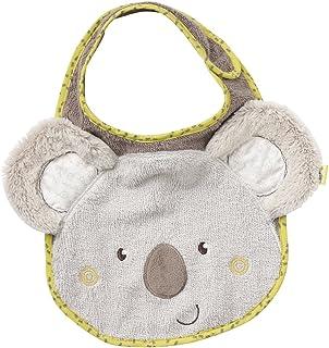 Fehn Fehn 064216 Lätzchen Koala- Kuschelweicher Babylatz mit Tiermotiv, angenehmer Tragekomfort mit Klettverschluss, für Babys und Kleinkinder ab 0 Monaten